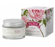 Bulgarien Rose REVITALIZING Face Cream Q10 with rose oil 50ml/1.69