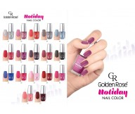 Golden Rose Holiday Nail Polish/Varnish Sand Effect 11,3ml