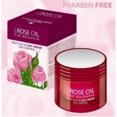 Rose of Bulgaria MULTI ACTIVE DAY CREAM + Pure Bulgarien rose oil 50ml/1.69OZ